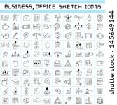 business management icons ... | Shutterstock .eps vector #145649144