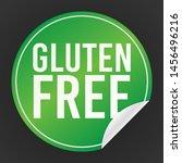 gluten free green sticker.... | Shutterstock .eps vector #1456496216