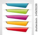 blank colored bookmarks  tags... | Shutterstock .eps vector #145650230