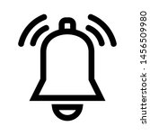 bell icon. alarm sign isolated... | Shutterstock .eps vector #1456509980
