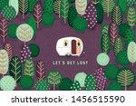 cute fairytale scene with... | Shutterstock .eps vector #1456515590