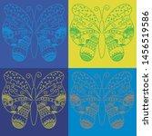 Butterflies Hand Drawn Line Ar...