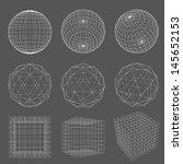 geometry wireframe | Shutterstock .eps vector #145652153