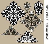 calligraphic design elements.   Shutterstock .eps vector #145654688