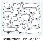 a set of comic bubbles speech... | Shutterstock .eps vector #1456554170