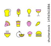 food icon set  outline style | Shutterstock .eps vector #1456561886