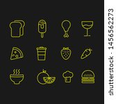 food icon set  outline style... | Shutterstock .eps vector #1456562273