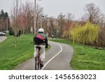 Three Cyclers On Renton River...