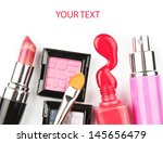 makeup brush and cosmetics  on... | Shutterstock . vector #145656479