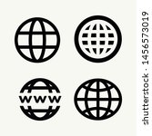 set of world wide for web... | Shutterstock .eps vector #1456573019