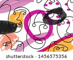 unusual composition with cubism ... | Shutterstock .eps vector #1456575356