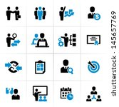 business and management icons | Shutterstock .eps vector #145657769