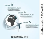 bright flight infographic.... | Shutterstock .eps vector #145657844