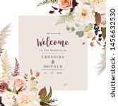 moody boho chic wedding vector... | Shutterstock .eps vector #1456632530