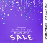 sale flyer with confetti on... | Shutterstock .eps vector #1456634450