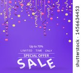 sale flyer with confetti on... | Shutterstock .eps vector #1456634453