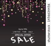 sale flyer with confetti on... | Shutterstock .eps vector #1456634456