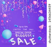 sale flyer with confetti on... | Shutterstock .eps vector #1456634459