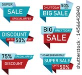 sale stickers. price tag label. ... | Shutterstock .eps vector #1456643840