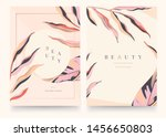 abstract trendy floral... | Shutterstock .eps vector #1456650803