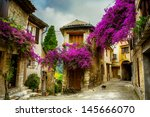 beautiful old town of provence | Shutterstock . vector #145666070