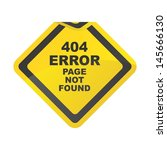 web page error yield | Shutterstock .eps vector #145666130