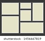 postage stamps template. blank... | Shutterstock .eps vector #1456667819