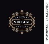 vintage emblem design for logo  ... | Shutterstock .eps vector #1456673480