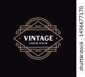 vintage emblem design for logo  ... | Shutterstock .eps vector #1456677170