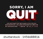 strong bold modern font effect  | Shutterstock .eps vector #1456688816