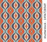 mid century modern art vector... | Shutterstock .eps vector #1456728569
