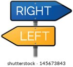 left or right road sign | Shutterstock .eps vector #145673843