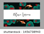 autumn banner template with... | Shutterstock .eps vector #1456738943
