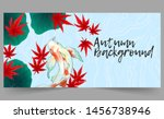 autumn banner template with... | Shutterstock .eps vector #1456738946