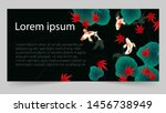 autumn banner template with... | Shutterstock .eps vector #1456738949