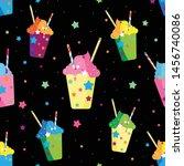 fruit smoothies berries cup... | Shutterstock .eps vector #1456740086