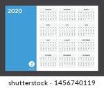 2020 calendar   illustration.... | Shutterstock .eps vector #1456740119
