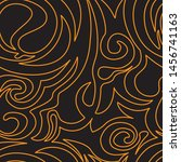 seamless pattern of spirals and ... | Shutterstock .eps vector #1456741163