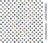 grunge polka dot pattern on... | Shutterstock .eps vector #1456743803