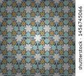 vector hand painted flowers.... | Shutterstock .eps vector #1456745066