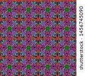 seamless pattern little flowers ... | Shutterstock .eps vector #1456745090
