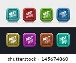 "vector ""best"" themed label...   Shutterstock .eps vector #145674860"