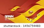 spain national day flag ribbon... | Shutterstock .eps vector #1456754483