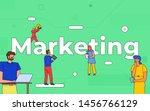 illustrations business teamwork ...   Shutterstock .eps vector #1456766129