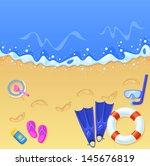 vector illustration of a sunny... | Shutterstock .eps vector #145676819