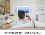 rear view of middle aged man... | Shutterstock . vector #145678760
