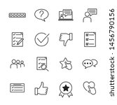 icons set of survey related... | Shutterstock .eps vector #1456790156
