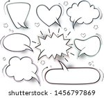 a set of comic bubbles and... | Shutterstock .eps vector #1456797869