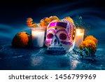 Traditional Sugar Skull Used A...