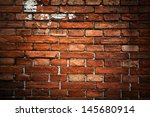 Red Brick Background  Closeup...